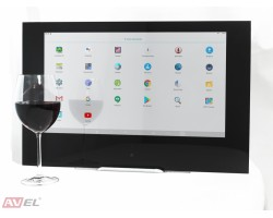 Сенсорная Android панель для кухни AVS220KT (черная рамка)